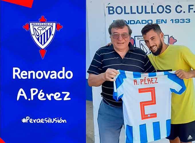 El defensa Andrés ´Pera', quinto jugador que renueva por el Bollullos. / Foto: @bollulloscf1933.