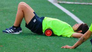 Yoko Tanaka regresó el miércoles a Huelva y el jueves se incorporó al grupo. / Foto: @sportinghuelva.