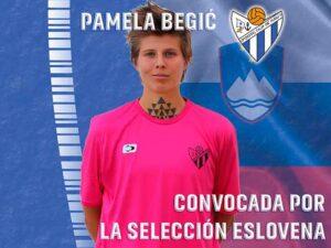 Cita internacional para la centrocampista eslovena del Sporting, Pamela Begic. / Foto: @sportinghuelva.