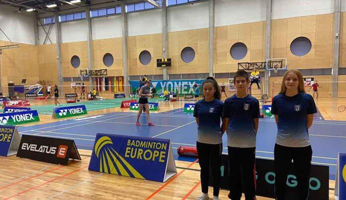 Los representantes del CD Bádminton Huelva completaron un buen papel en el torneo celebrado en Letonia. / Foto: @CDBHUELVA.