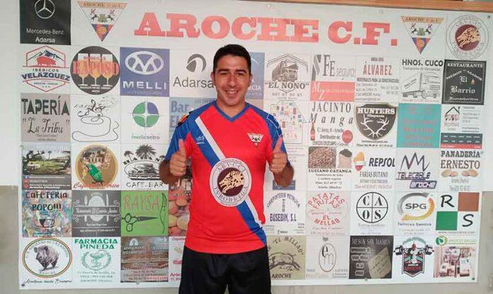 El centrocampista rosaleño David López, nuevo jugador del Aroche. / Foto: @arochecf.