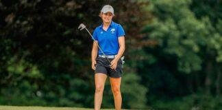 Teresa Toscano fue de más a menos en Santander. En la imagen, la onubense durante un recorrido en el US Amateur. / Foto: www.ten-golf.com.