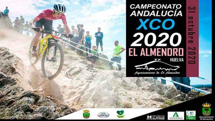 Cartel del Campeonato de Andalucía BTT XCO 2020 que tendrá lugar en El Almendro.