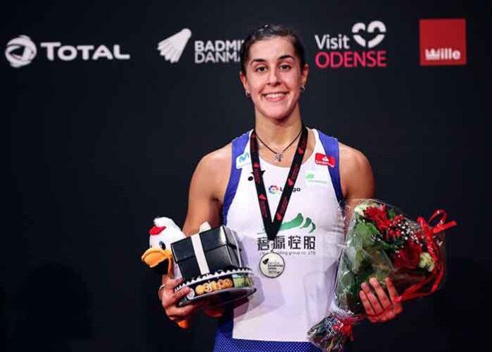 Carolina Marín se tuvo que conformar con el subcampeonato en el, Abierto de Dinamarca de bádminton. / Foto: Badminton Photo.