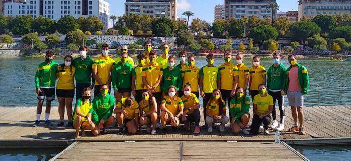 Componentes del Club Piragüismo Tartessos Huelva, soberbios en el Campeonato disputado en Sevilla.