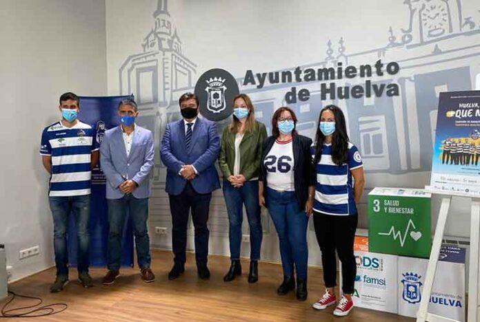 Un momento de la presentación de la temporada 2020-21 del IES La Orden, en el Ayuntamiento de Huelva.