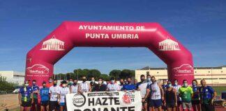 Una treintena de atletas participaron en la quinta etapa de 'La Ruta de las Maravillas de Huelva', que tuvo su inicio en El Faro de El Rompido y la meta en el polideportivo 'Antonio Gil Hernández' de Punta Umbría.