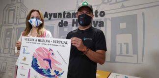 Un momento de la presentación de la XXXIV Vuelta a Huelva, del próximo 12 de octubre, que tendrá lugar en formato virtual.