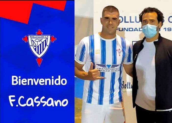 Fran Cassano, que la temporada anterior militó en el Cerreño, nuevo jugador del Bollullos. / Foto: @bollulloscf1933.