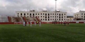 Prolegómenos del partido La Palma-Gerena que concluyó con empate a cero. / Foto: @CD_Gerena.