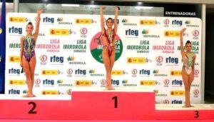 Nora Gómez logró la medalla de plata en aro y la de bronce con mazas.