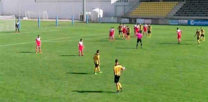 El San Roque se impuso a La Palma en un derbi en Tercera muy igualado. / Foto: Captura TV.