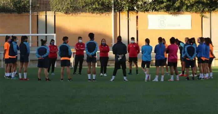 El Sporting de Huelva retornó a los entrenamientos este martes en Los Rosales. / Foto: @sportinghuelva.