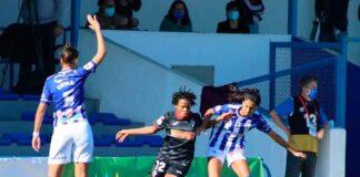 El Sporting de Huelva vio como volaron dos puntos de La Orden en el tiempo añadido. / Foto: www.lfp.es.