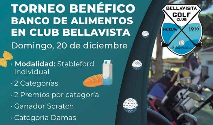 Cartel anunciador del torneo de golf benéfico que tendrá lugar el domingo en Bellavista.