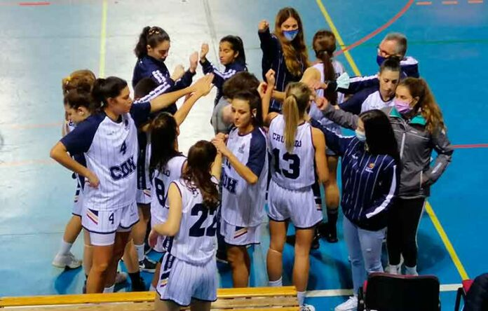 El Ciudad de Huelva cierra 2020 como líder sólido en su grupo de la LNF1 de baloncesto. / Foto: @CiudadDeHuelva.