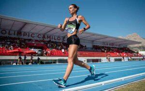Laura García-Caro acabó contenta con el puesto y la marca en Getafe.
