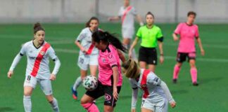 Pese a buscar la igualada con ahinco, el Sporting de Huelva regresó de vacío de su visita al Rayo Vallecano. / Foto: www.lfp.es.