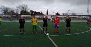Prolegómenos del Montilla-Aroche, que se saldó en favor del equipo local (2-0). / Foto: @arochecf.