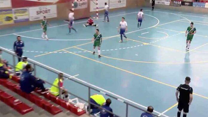 El único equipo de Huelva que logró puntuar en Tercera esta jornada fue el CD San Juan. / Foto: Captura imagen @PozoblancoFS.