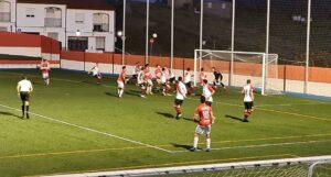 No hizo un buen partido el Cartaya en Espiel, donde perdió por 1-0. / Foto: @AtcoEspeleno.