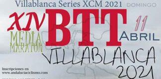 Cartel anunciador de la prueba ciclista que tendrá lugar en Villablanca el 11 de abril.