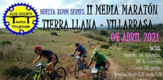 Cartel anunciador de la 2ª Media Maratón Tierra Llana', que se celebrará el domingo 4 de abril en Villarrasa.