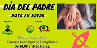 Cartel anunciador de las Jornadas Deportivas en Punta Umbría con motivo del Día del Padre.