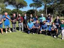 Los participantes en una nueva cita del Circuito Senior de Andalucía de golf que ha tenido lugar en Bellavista y en La Monacilla.
