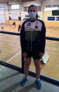 Laura Santos logró el oro en los dobles mixtos en el TTR Ponteareas.