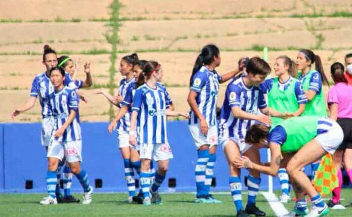 Fatou Kanteh abrió el marcador para el Sporting, vencedor por 2-1 ante la UD Granadilla. / Foto: www.lfp.es.