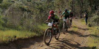 Los participantes en la prueba desafiaron un recorrido de unos 45 kilómetros, que fue variado. / Foto: Huelva Series XCM 2021.