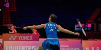 Carolina Marín, sin jugar este jueves por la lesión de Kjaersfeldt, ya está en las semifinales del Europeo. / Foto: Badminton Photo.