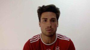 David Alfonse dijo que se encontró bastante bien tras su lesión. / Foto: Captura imagen Recreativo de Huelva.