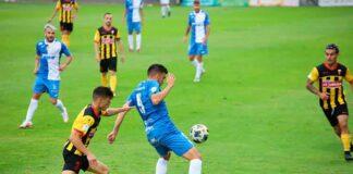 Los jugadores del San Roque tienen ganas de revertir la situación tras caer derrotados en casa con el Xerez Deportivo. / Foto: @XerezCD_OFICIAL.