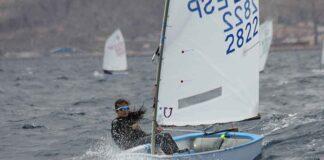 María Castillo, segunda en Sub 16, durante la regata del domingo.