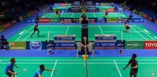 El Palacio de Deportes 'Carolina Marín' vivió este jueves los enfrentamientos de octavos de final en todas las modalidades. / Foto: @Huelva2021WC.