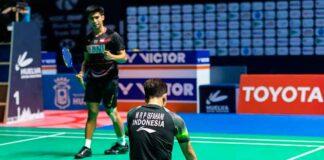 Pleno de Indonesia en las finales del torneo que se celebra en el Palacio de Deportes 'Carolina Marín'. / Foto: @Huelva2021WC.