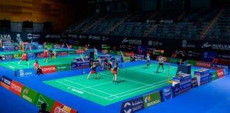 Comenzó a disputarse en el Palacio de Deportes 'Carolina Marin' el 'Huelva Spain Masters'. / Foto: @Huelva2021WC.