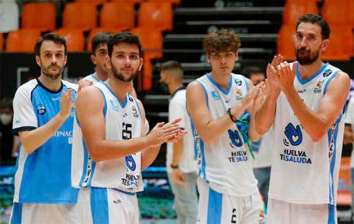 Pese a sumar la segunda derrota en Valencia, el Ciudad de Huelva aún podría pelear por el ascenso si ganan al Estudiantes por más de 14 puntos. / Foto: Miguel Ángel Polo.