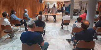 Un momento de la entrega de premios de la VII Liga Interclubes de cruceros 'Bahía de Huelva'.