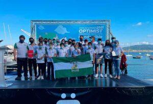 El equipo de Andalucía brilló con luz propia en la Copa de España de Óptimist celebrada en Hondarribia.