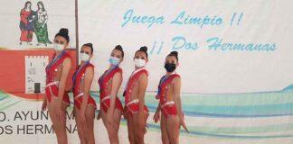 El conjunto Cadete formado por Erika, Sofía, Aisa, Paula y Sandra logró el bronce en el Andaluz de Promesas en Dos Hermanas.