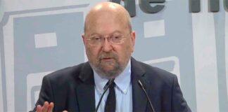 José Antonio Sotomayor en su presentación como nuevo presidente del Recreativo. / Foto: Captura imagen Huelva TV.