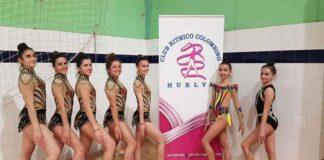Algunas de las representantes del GR Huelva que acuden a Almería.