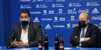 Dani Alejo, Director Deportivo, y José Antonio Sotomayor, presidente del Recre, en la presentación del primero. / Foto: G. N.