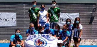 Componentes del Club Asirio Huelva en la prueba celebrada este fin de semana en Madrid.