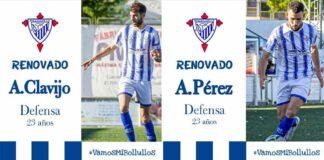Antonio Clavijo y Andrés Pérez 'Pera' han renovado por el Bollullos. / Foto: @bollulloscf1933.