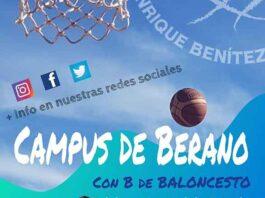 Cartel del campus que organiza el CDB Enrique Benítez durante los meses de julio y agosto.