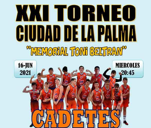 Cartel del torneo de baloncesto que tiene lugar en La Palma este miércoles.